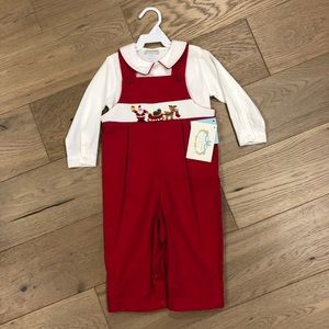 Collection Bebe Hand-smocked Christmas jumper 18m